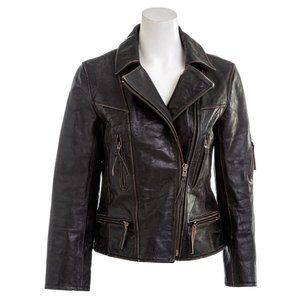 ALLSAINTS Kendall Distressed Leather Moto Jacket